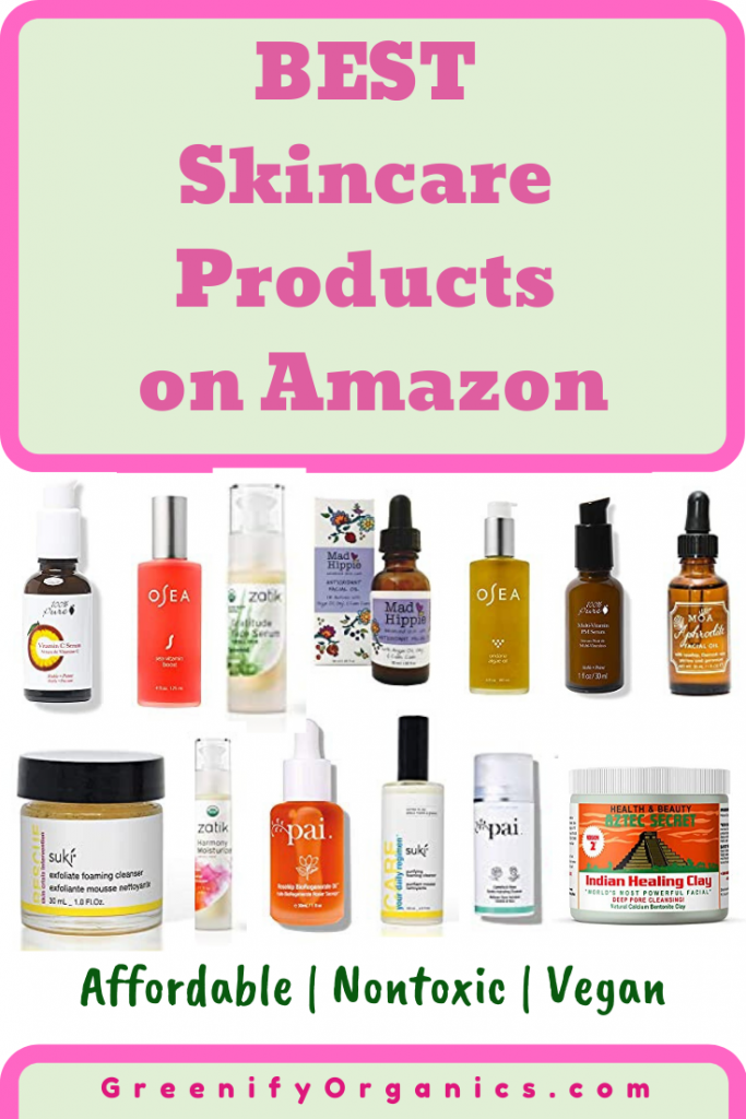best natural skincare products on amazon, best skincare products on amazon, best non-toxic skincare products on amazon, skincare on amazon